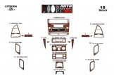 Citroen C4 06.04 - 09.10 Mittelkonsole Armaturendekor Cockpit Dekor 18 -Teile