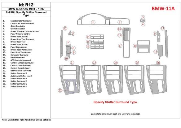 Citroen C4 06.04-09.10 3M 3D Car Tuning Interior Tuning Interior Customisation UK Right Hand Drive Australia Dashboard Trim Kit