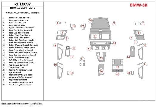 Citroen Elysée 01.2010 3M 3D Car Tuning Interior Tuning Interior Customisation UK Right Hand Drive Australia Dashboard Trim Kit