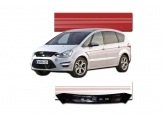 FORD S-MAX C 2010 up Smoked Bug Deflector