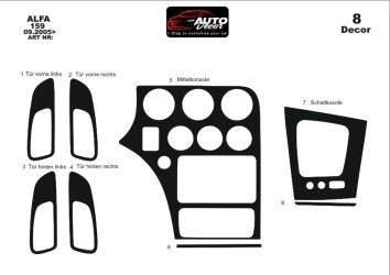 BMW 3 Series E90 01.06 - 12.10 Interior Dashboard Trim Kit Dashtrim accessories, wood grain, camouflage, carbon fiber, aluminum