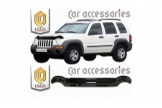 Jeep Liberty KJ 2001–2007 up Smoked Bug Deflector