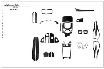 Fiat Panda 09.2003 Mittelkonsole Armaturendekor Cockpit Dekor 2 -Teile