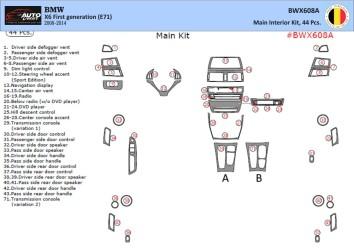 Fiat Ulysse 02.2002 Mittelkonsole Armaturendekor Cockpit Dekor 4 -Teile