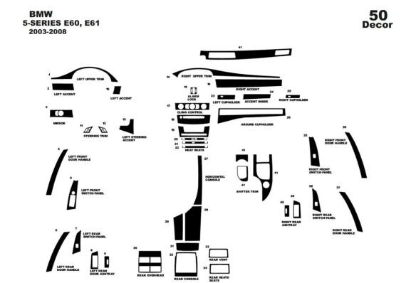 Honda Accord Japan 06.98 - 02.02 Mittelkonsole Armaturendekor Cockpit Dekor 14 -Teile