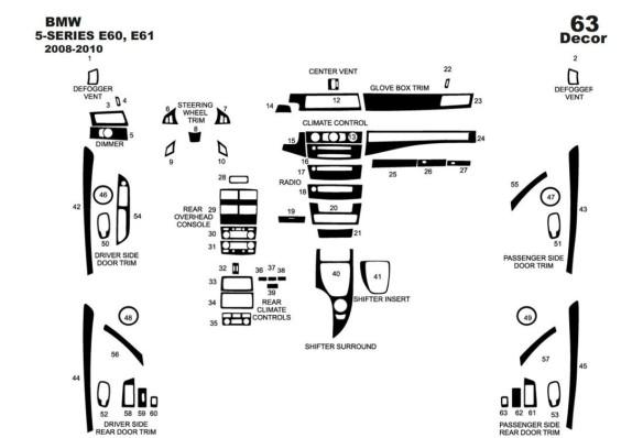 Dacia Logan 04.05-09.09 3M 3D Car Tuning Interior Tuning Interior Customisation UK Right Hand Drive Australia Dashboard Trim Kit