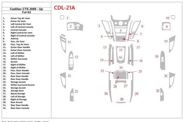 Daihatsu Sirion 01.2005 3M 3D Car Tuning Interior Tuning Interior Customisation UK Right Hand Drive Australia Dashboard Trim Kit