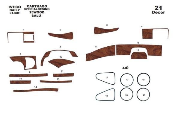 Daewoo Lanos 05.1997 3M 3D Car Tuning Interior Tuning Interior Customisation UK Right Hand Drive Australia Dashboard Trim Kit Da