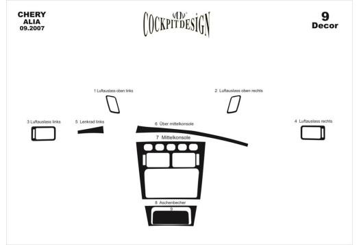 Daewoo Leganza 09.1997 3M 3D Car Tuning Interior Tuning Interior Customisation UK Right Hand Drive Australia Dashboard Trim Kit