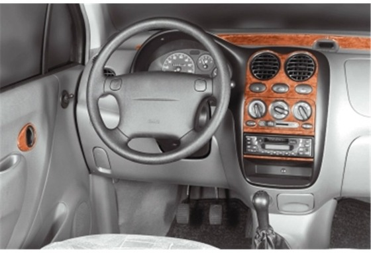 Daewoo Matiz 08.98-01.05 3M 3D Car Tuning Interior Tuning Interior Customisation UK Right Hand Drive Australia Dashboard Trim Ki