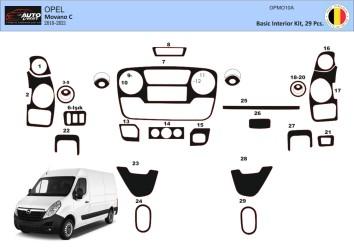 Peugeot 4007 2007–2013 Interior Dashboard Trim Kit Dashtrim 31-Parts