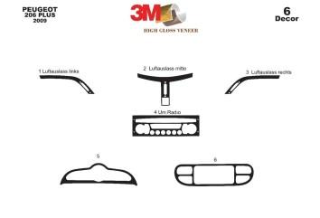 BMW -Series E60 2008-2010 Interior Dashboard Trim Kit Dashtrim 63-Parts