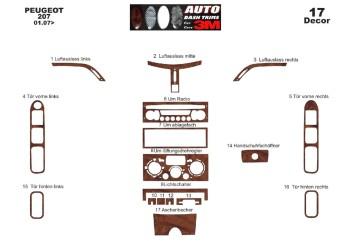 Mercedes Vito W639 2006-2015 Mittelkonsole Armaturendekor Cockpit Dekor 2 -Teile