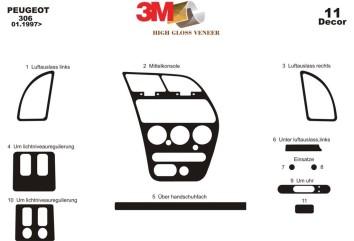 Mercedes Vito W639 2003-2006 Mittelkonsole Armaturendekor Cockpit Dekor 2 -Teile