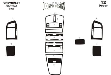 Hyundai Tucson 09.04 - 01.10 Interior Dashboard Trim Kit Dashtrim accessories, wood grain, camouflage, carbon fiber, aluminum da
