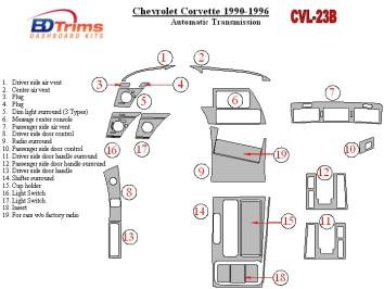 Hyundai Elantra 01.99 - 07.00 Interior Dashboard Trim Kit Dashtrim accessories, wood grain, camouflage, carbon fiber, aluminum d