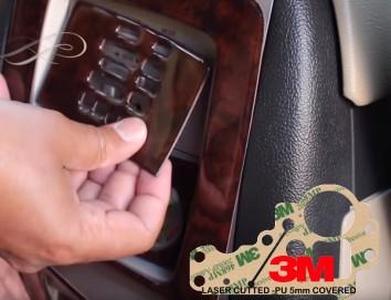 Hyundai Elantra 08.00 - 12.03 Interior Dashboard Trim Kit Dashtrim accessories, wood grain, camouflage, carbon fiber, aluminum d