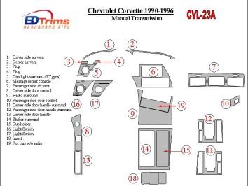 Hyundai I 30 09.2007 Interior Dashboard Trim Kit Dashtrim accessories, wood grain, camouflage, carbon fiber, aluminum dash kits