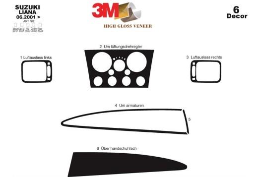 Volvo FH12/FH16-ab 12.93 3M 3D Car Tuning Interior Tuning Interior Customisation UK Right Hand Drive Australia Dashboard Trim Ki