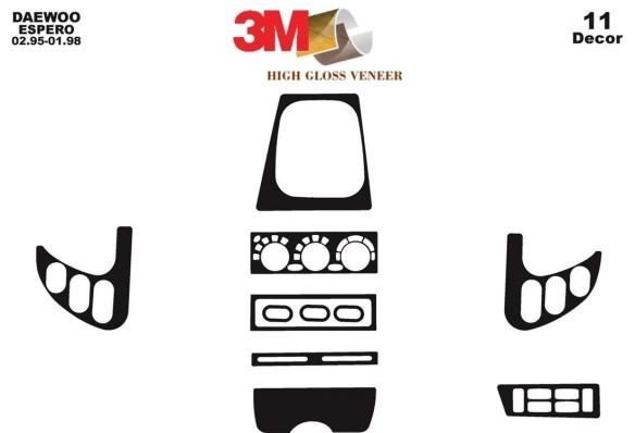 Fiat Linea 06.2007 3M 3D Car Tuning Interior Tuning Interior Customisation UK Right Hand Drive Australia Dashboard Trim Kit Dash