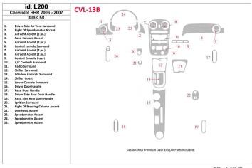 Volkswagen Amarok 01.2011 Interior Dashboard Trim Kit Dashtrim accessories, wood grain, camouflage, carbon fiber, aluminum dash