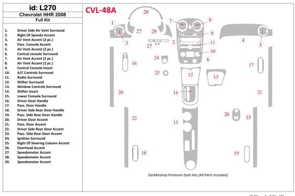 Fiat Doblo 09.2009 3M 3D Car Tuning Interior Tuning Interior Customisation UK Right Hand Drive Australia Dashboard Trim Kit Dash
