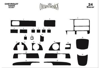 Renault Traffic 01.07 - 12.10 Interior Dashboard Trim Kit Dashtrim accessories, wood grain, camouflage, carbon fiber, aluminum d