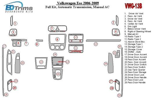 Chrysler PT Cruiser 2006-2010 3M 3D Car Tuning Interior Tuning Interior Customisation UK Right Hand Drive Australia Dashboard Tr