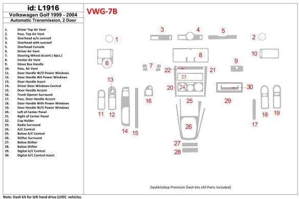 Land Rover Range Rover Evoque 2012-2016 3M 3D Car Tuning Interior Tuning Interior Customisation UK Right Hand Drive Australia Da