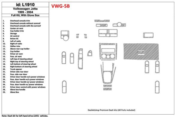 Subaru Legacy 2005-2009 3M 3D Car Tuning Interior Tuning Interior Customisation UK Right Hand Drive Australia Dashboard Trim Kit
