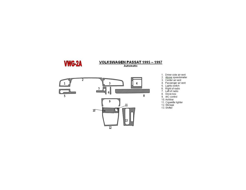 Volkswagen Beetle 2006 2010 3m 3d Interior Dashboard Trim Kit Dash Trim Dekor 35 Parts