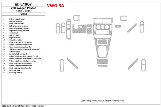 Mazda Mazda 3 2004-2009 3M 3D Car Tuning Interior Tuning Interior Customisation UK Right Hand Drive Australia Dashboard Trim Kit