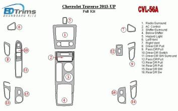 Dacia Logan 04.05 - 09.09 Interior Dashboard Trim Kit Dashtrim accessories, wood grain, camouflage, carbon fiber, aluminum dash