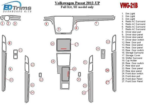 Kia Soul 2010-2011 3M 3D Car Tuning Interior Tuning Interior Customisation UK Right Hand Drive Australia Dashboard Trim Kit Dash