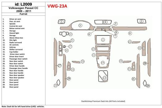 Ford Fiesta 2010-2017 3M 3D Car Tuning Interior Tuning Interior Customisation UK Right Hand Drive Australia Dashboard Trim Kit D