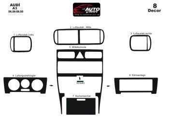 Fiat Fiorino 01.2008 Mittelkonsole Armaturendekor Cockpit Dekor 27 -Teile