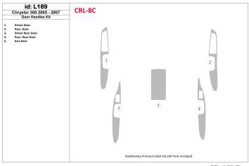Mazda 323 FS 09.98 - 11.00 Mittelkonsole Armaturendekor Cockpit Dekor 9 -Teile