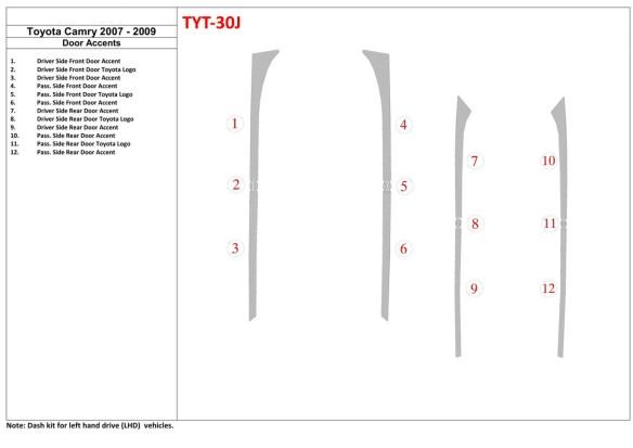 Audi Q3 ab 2015 3M 3D Car Tuning Interior Tuning Interior Customisation UK Right Hand Drive Australia Dashboard Trim Kit Dash Tr