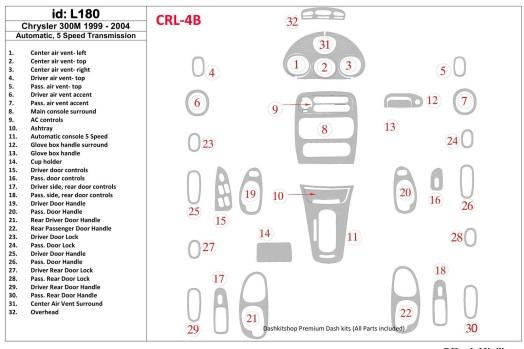 Ford Mondeo 10.00-05.03 3M 3D Car Tuning Interior Tuning Interior Customisation UK Right Hand Drive Australia Dashboard Trim Kit