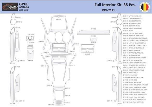Kia Sorento 09.02-06.07 3M 3D Car Tuning Interior Tuning Interior Customisation UK Right Hand Drive Australia Dashboard Trim Kit