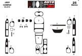 Opel Corsa B - Tigra  Combo 01.93 - 10.00 Mittelkonsole Armaturendekor Cockpit Dekor 10 -Teile