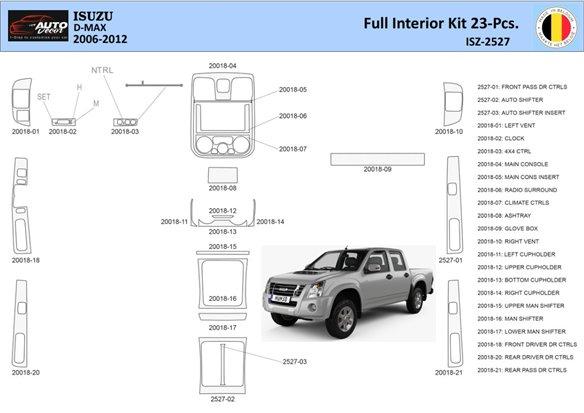 Audi Q7 2007-UP Full Set, Automatic Gear, Aluminum OEM Interior BD Dash Trim Kit Car Tuning Interior Tuning Interior Customisati