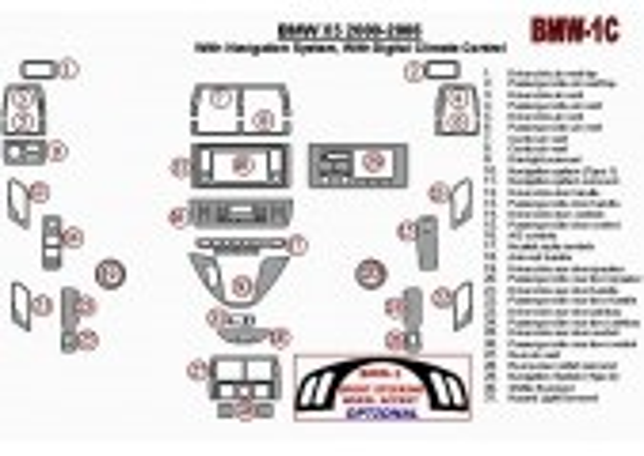 BMW X5 2000-2006 With NAVI system Interior BD Dash Trim Kit Car Tuning Interior Tuning Interior Customisation UK Right Hand Driv