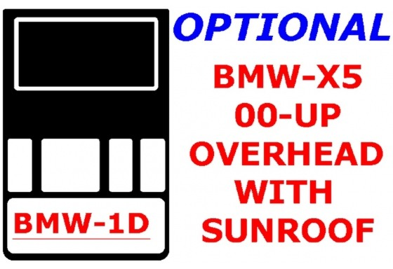BMW X5 2000-2006 Overhead Console, With Sunroof Interior BD Dash Trim Kit Car Tuning Interior Tuning Interior Customisation UK R