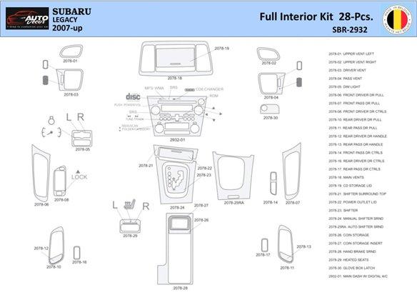 BMW 3 1998-1998 Manual Gearbox & Automatic Gear, 27 Parts set Interior BD Dash Trim Kit Car Tuning Interior Tuning Interior Cust