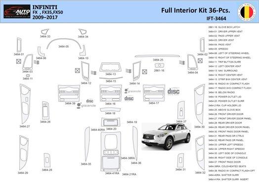 Cadillac SRX 2007-2009 Full Set Interior BD Dash Trim Kit Car Tuning Interior Tuning Interior Customisation UK Right Hand Drive