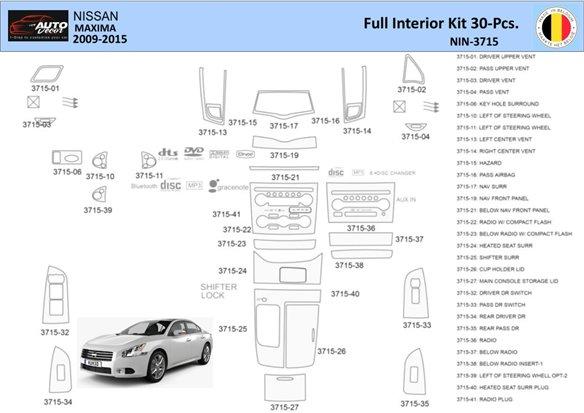 Cadillac SRX 2010-UP Full Set Interior BD Dash Trim Kit Car Tuning Interior Tuning Interior Customisation UK Right Hand Drive Au