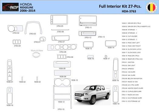 Cadillac CTS 2003-2007 Basic Set, 18 Parts set Interior BD Dash Trim Kit Car Tuning Interior Tuning Interior Customisation UK Ri