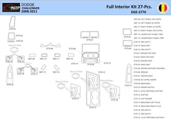 Cadillac CTS 2003-2007 Full Set, With NAVI, With Door Panels Interior BD Dash Trim Kit Car Tuning Interior Tuning Interior Custo