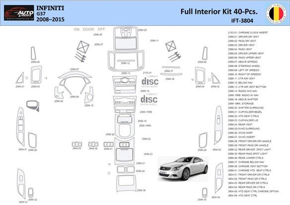 Chrysler Sebring Coupe 2003-2006 Full Set Interior BD Dash Trim Kit Car Tuning Interior Tuning Interior Customisation UK Right H